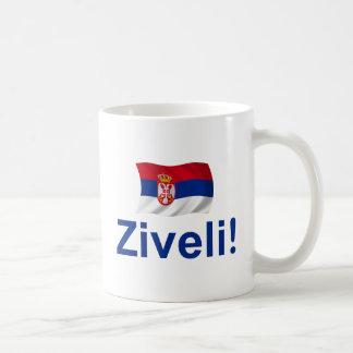 Serbien Ziveli! Kaffeetasse