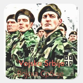Serbische Armee Quadratischer Aufkleber
