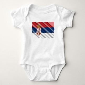 Serbische Flagge Baby Strampler