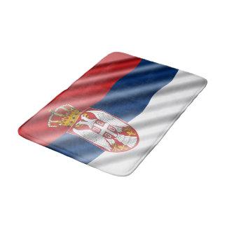 Serbische Flagge Badematte