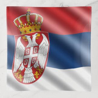 Serbische Flagge Dekoschale