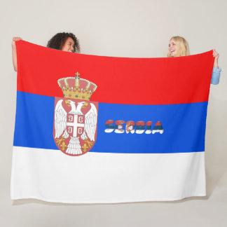 Serbische Flagge Fleecedecke