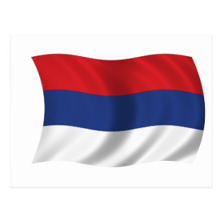 Serbische Flagge Postkarte
