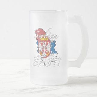 Serbische Mädchen tun es Bestes! Mattglas Bierglas