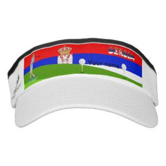 Serbischer Golfspieler Visor