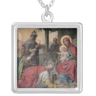 Serbisches orthodoxes icongraphy an Valjevo Versilberte Kette