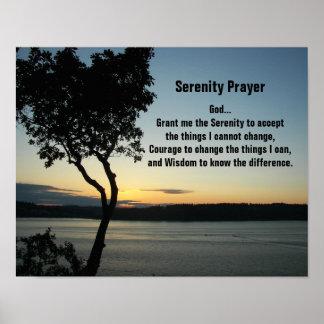 Serenity-Gebets-Abends-Sonnenuntergang Poster