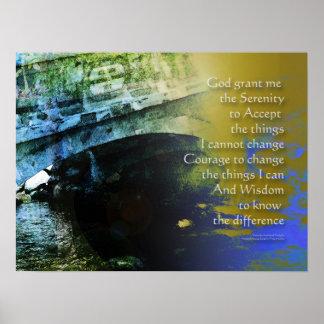 Serenity-Gebets-Brücke abstraktes Poster