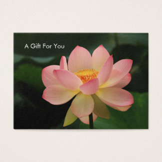 Serenity Lotus Flower Massage Therapist Gift Card Visitenkarte