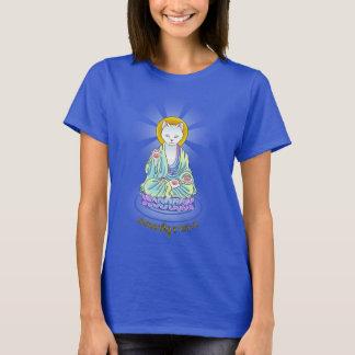 Serenitymeow-Buddha-Katzen-Lotos-Shirt T-Shirt
