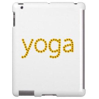 série florale de yoga de couverture d'ipad à peine coque iPad