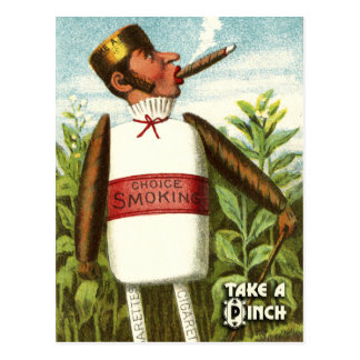 Série végétale vintage de carte postale : Tabac