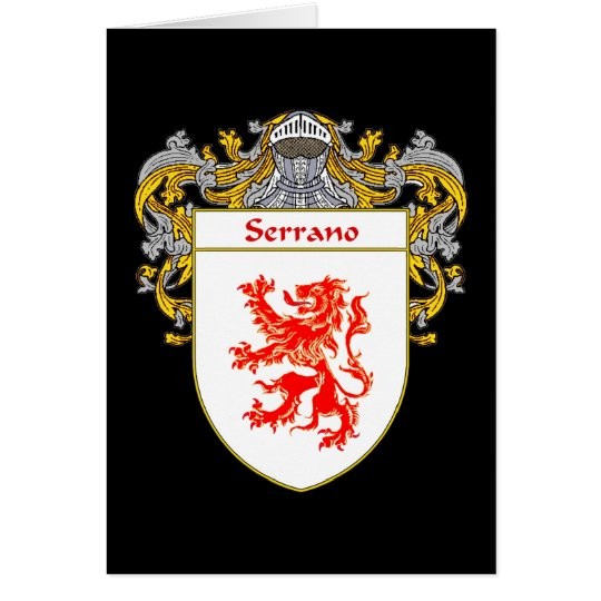 Serrano Wappen (überzogen) Grußkarte