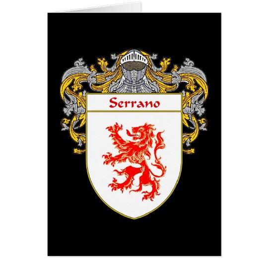 Serrano Wappen (überzogen) Karte
