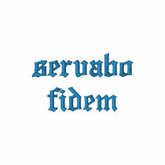 servabo fidem besticktes polo hemd