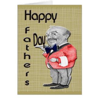 Serveur heureux de fête des pères carte de vœux