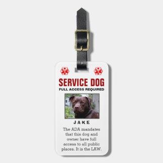 Service-Hund - erforderliches Abzeichen mit vollem Gepäckanhänger