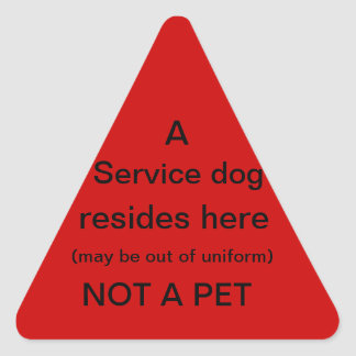 Service-Hund liegt hier Aufkleber