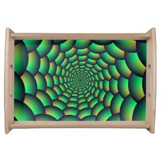 Serviertablett-grüner Ball-Spirale-Tunnel Tablett
