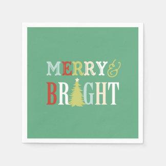 Serviette En Papier Joyeuses et lumineuses serviettes de Noël