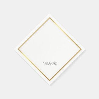 Serviette En Papier minimaliste blanc reception_party de mariage