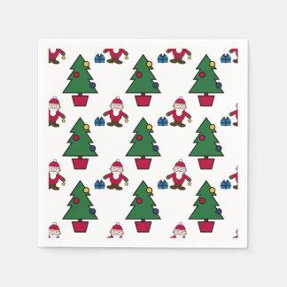 Serviette En Papier Père Noël et arbre de Noël