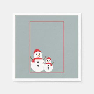 Serviette En Papier Serviettes de papier de fête de Noël de jour de