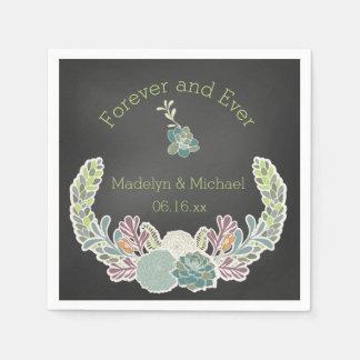 Serviette En Papier Serviettes de papier de mariage fait sur commande