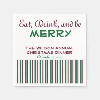 Serviette En Papier Serviettes rouges et vertes de Noël