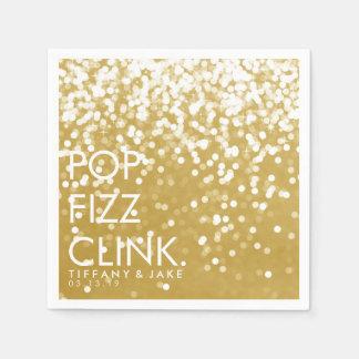 Serviette - funkelndes PopFizzclink-Gold