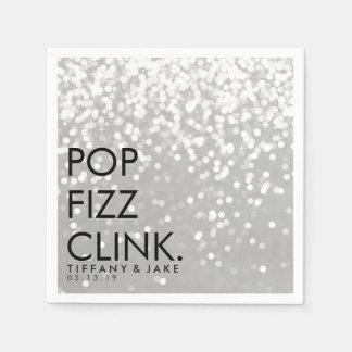 Serviette - funkelndes PopFizzclink-Silber