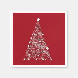 Serviette Jetable C'est les serviettes de papier d'une fête de Noël