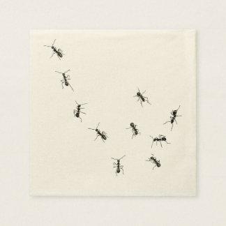 Serviette Jetable fourmis de marche