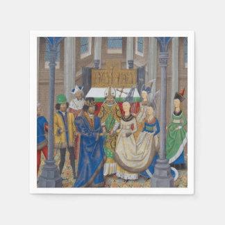 Serviette Jetable Peinture médiévale de mariage de métis