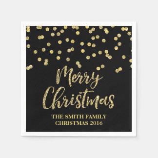 Serviette Jetable Serviette de Joyeux Noël de confettis de