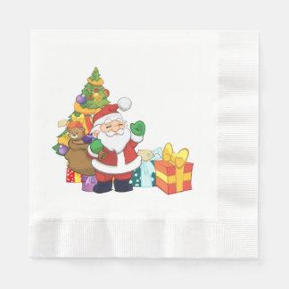 Serviette Jetable Serviettes de Noël de Père Noël