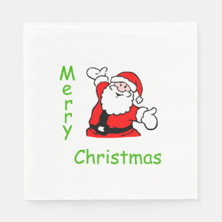 Serviette Jetable Serviettes de Père Noël de Noël
