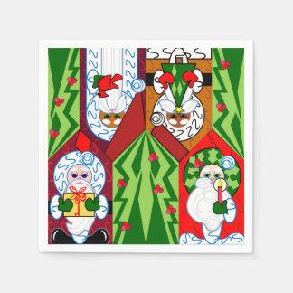 Serviette Jetable Serviettes mignonnes de Père Noël de Noël
