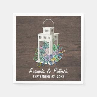Serviette Jetable Serviettes rustiques de mariage de lanterne de