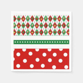 Serviette Jetable Tis les serviettes de papier de fête de Noël de