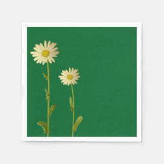 Serviette mit Gänseblümchen-Blumenentwurf