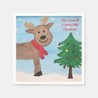 Serviettes En Papier Joyeuses petites serviettes de Noël