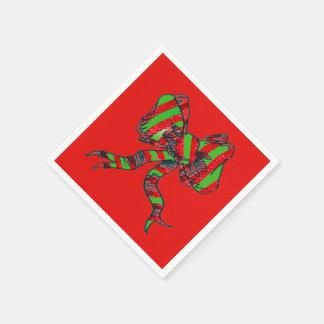 Serviettes En Papier Serviettes de papier de Noël - arcs
