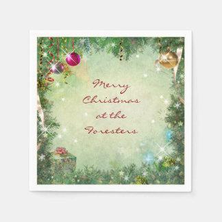 Serviettes En Papier Serviettes de papier de Noël personnalisable
