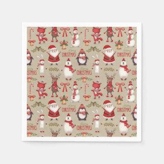 Serviettes En Papier Serviettes orientées de partie de Noël