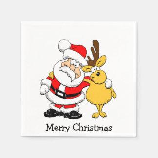Serviettes Jetables Père Noël et renne