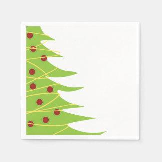 Serviettes Jetables Serviettes de cocktail d'arbre de Noël