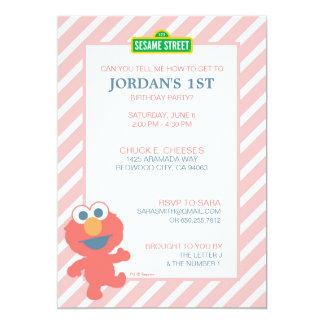 Sesame Street   Elmo - invitation d'anniversaire