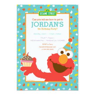 Sesame Street | Elmo - Kuchen-u. 12,7 X 17,8 Cm Einladungskarte