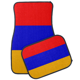 Set Automatten mit Flagge von Armenien Autofußmatte